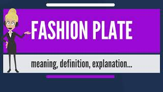 What Is FASHION PLATE? What Does FASHION PLATE Mean? FASHION PLATE Meaning & Explanation