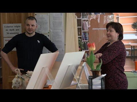 Darbu atsāk Skrundas novada bibliotēkas
