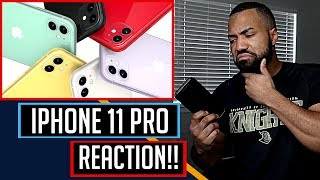 Introducing iPhone 11 Pro - REACTION!!