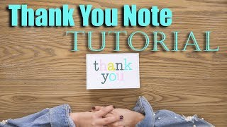 How to Write a Thank You Note Tutorial!   The Intern Queen