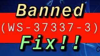PS4 (WS-37337-3) FIX BANNED SIGNED OUT