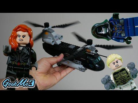 Vidéo LEGO Marvel 76162 : La poursuite en hélicoptère de Black Widow