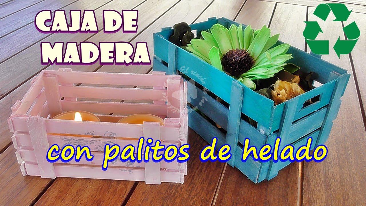 DIY. Cajas de decoración hechas reciclando palitos de helados