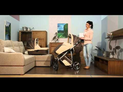 Kombikinderwagen Pluto mit Babyschale für ISOFIX Basis