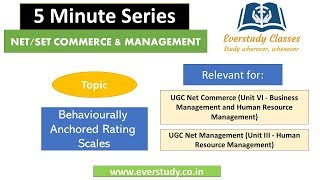 Behaviourally Anchored Rating Scales   5 Minute Series   NTA UGC Net Commerce & Management