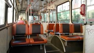 Interiér trolejbusu Škoda 14Tr