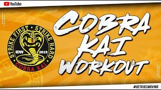 THE COBRA KAI 'KARATE' WORKOUT!  #GETKIDSMOVING (12mins)
