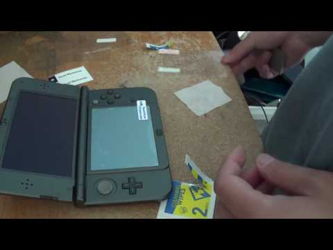 Installing TNP New 3DS XL Screen Protector   Ultra Clear High Definition HD LCD Screen Protector Fil