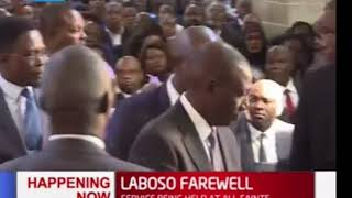 LABOSO FAREWELL  DP Ruto, Governor Sonko arrive at All Saints Cathedral