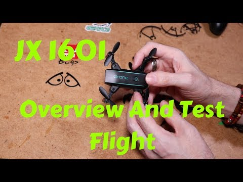 JX1601 Mini Foldable Quadcopter Overvew And Test Flight