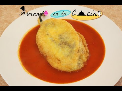 Chiles Anchos Rellenos En Salsa De Jitomate