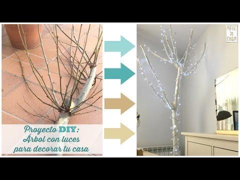 Proyecto DIY: Árbol blanco con luces