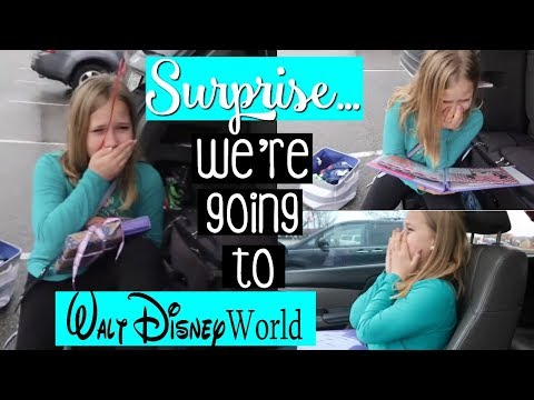 BEST SURPRISE EVER... We're Going To Disney World