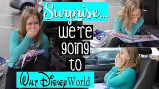 BEST SURPRISE EVER... Were Going To Disney World