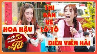 Khác biệt to lớn giữa HOA HẬU Khánh Vân và NGHỆ SĨ HÀI Puka khi bán vé lô tô | MAPLVB Tết