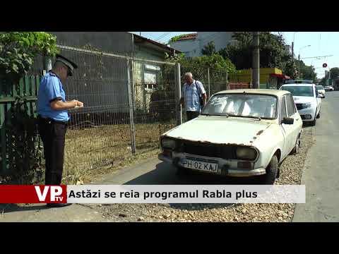 Astăzi se reia programul Rabla plus