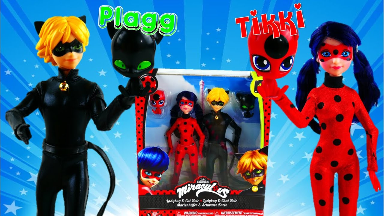 Miraculous Ladybug & Cat Noir Toys - Fashion Doll Review WITH Tikki and Plagg Evie's Toy House