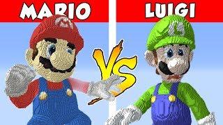 MARIO vs LUIGI – PvZ vs Minecraft vs Smash
