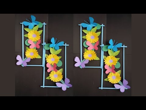 DIY: Wall Decoration Idea !!! How to Make Beautiful Flower hanging for Wall Decoration !!!