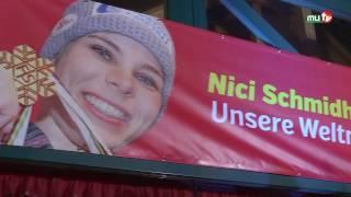 Empfang der Weltmeisterin Nici Schmidhofer