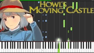 Howls Moving Castle Theme [Piano Tutorial] (Synthesia) // Fontenele NXT