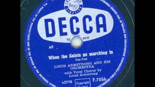 Louis Armstrong and his Orchestra - When the Saints go marching in