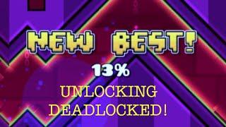 UNLOCKING DEADLOCKED! / Geometry Dash #4 / Three more levels complete!