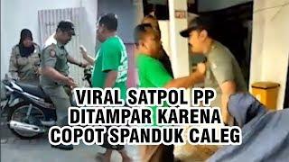 Viral Video Satpol PP Surabaya Ditampar karena Copot Spanduk Caleg, Begini Kronologinya