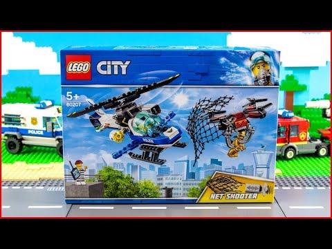 Vidéo LEGO City 60207 : Le drone de la police