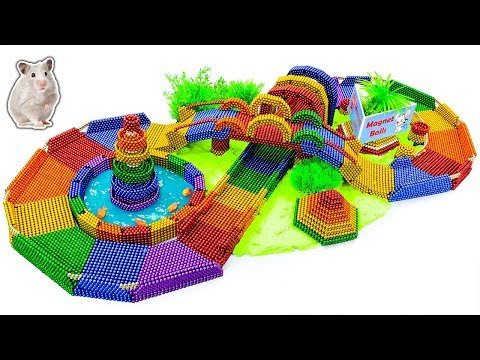 DIY - Build Amazing Hamster Race Magic Tracks With Magnetic Balls (Satisfying) - Magnet Balls