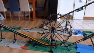 LEGO roller coaster with loop and 7 cars
