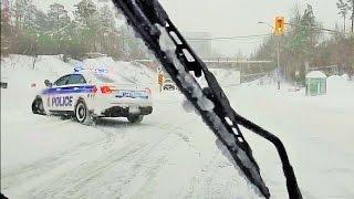 Dashcam - Feb. 16 2016 Record Setting Snowfall in Ottawa, Canada (with music)