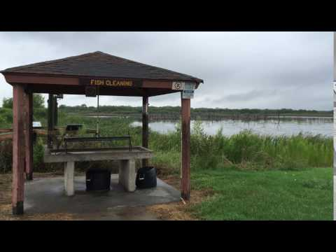 Fish cleaning area by tent camping