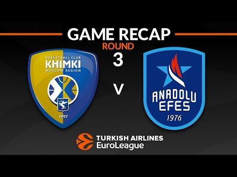 Highlights: Khimki Moscow region - Anadolu Efes Istanbul (видео)