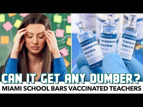 Miami School Bars VACCINATED Teachers