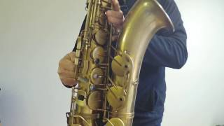 Eastman 52nd Street Tenorsaxophon unlacquered Sound Demo II