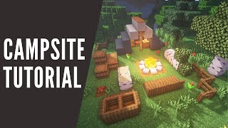 Minecraft: How To Make A Bonfire And Campsite