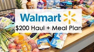 $200 WalMart Grocery Haul + Meal Plan // February 1, 2019