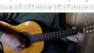 Chicken Dance - Easy Guitar melody tutorial + TAB Guitar lesson