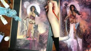 Nen Chang paints Dejah Thoris #6 Cover Time Lapse Watercolor