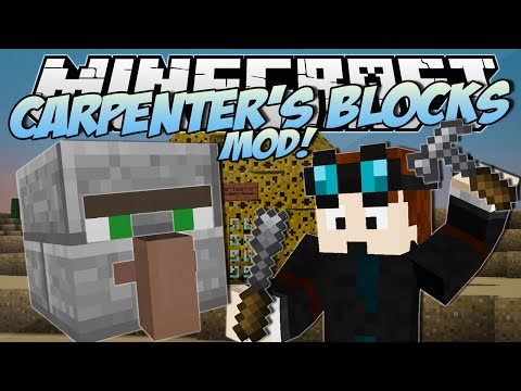 Minecraft | CARPENTER'S BLOCKS MOD! (Trayaurus' Cheese House!) | Mod Showcase