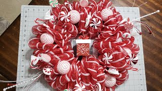 #christmaswreath #wreath #dollartree  DIY Christmas Mesh Wreath