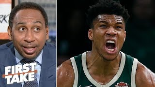 Giannis is going to be in 'attack mode' against Kawhi, Raptors in Game 1 - Stephen A. | First Take