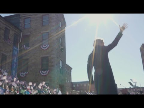 Video thumbnail for Elizabeth Warren's announcement in Lawrence, MA | The fight of our lives