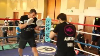 SWIFTY RETURNS - STEPHEN SMITH HITS THE PADS WITH JOE GALLAGHER AHEAD OF REAL LIFE ROCKY STORY