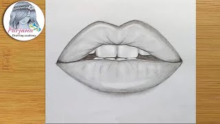 How To Draw Lips By Pencil Step By Step
