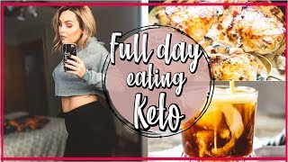 WHAT I EAT IN A DAY ON LAZY KETO / FULL DAY OF EATING KETO / DANIELA DIARIES
