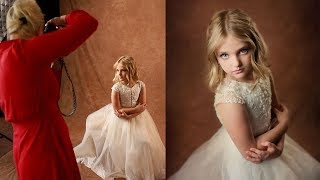 PORTRAIT PHOTOGRAPHY In Studio, Kids Portrait Photoshoot With Little Princess Behind The Scenes