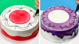 The Most Satisfying Cake Decorating Ideas | Quick & Easy Chocolate Cake Decorating Tutorials