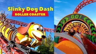 Riding Slinky Dog Dash Roller Coaster During Disney Morning Magic! Multi-Angle POV!